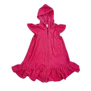 Old Navy 3T Pink Hooded Swimsuit Cover